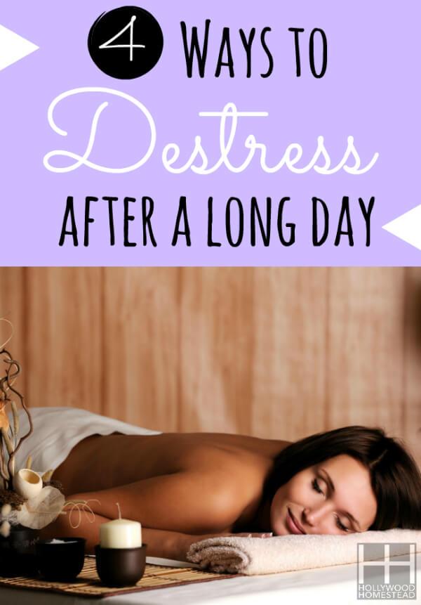4 Ways to Destress after a long day Vertical WM