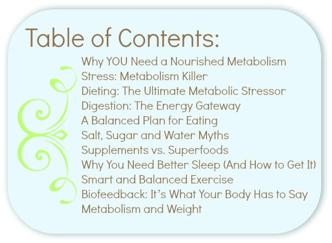 nourished metabolism contents