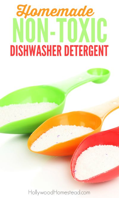 Homemade Non-Toxic Dishwasher Detergent - Hollywood Homestead