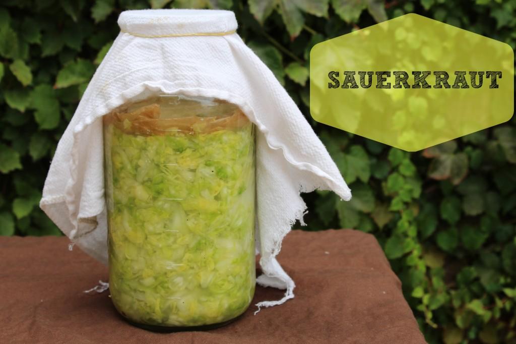 homeade sauerkraut