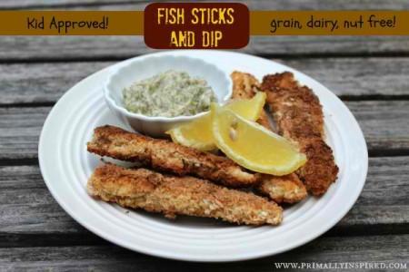paleo fish sticks