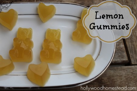homemade lemon gummy bears