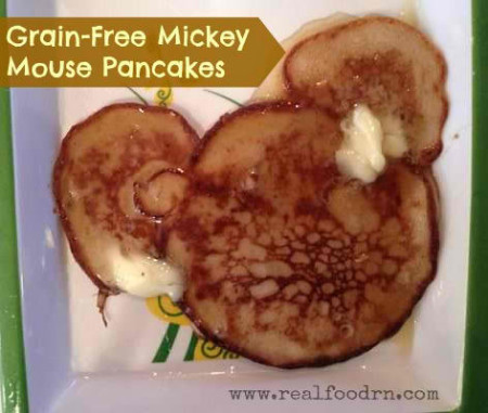 Grain-Free Mickey Mouse Pancakes