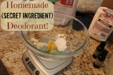 Homemade Deodorant (with a secret ingredient) from Scratch Mommy