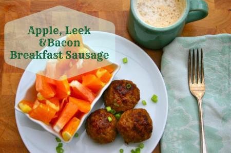 Apple Leek Bacon Breakfast Sausage