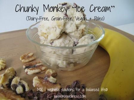 "Chunky Monkey ""Ice Cream"" (Dairy-Free, Grain-Free, Vegan + Paleo)"