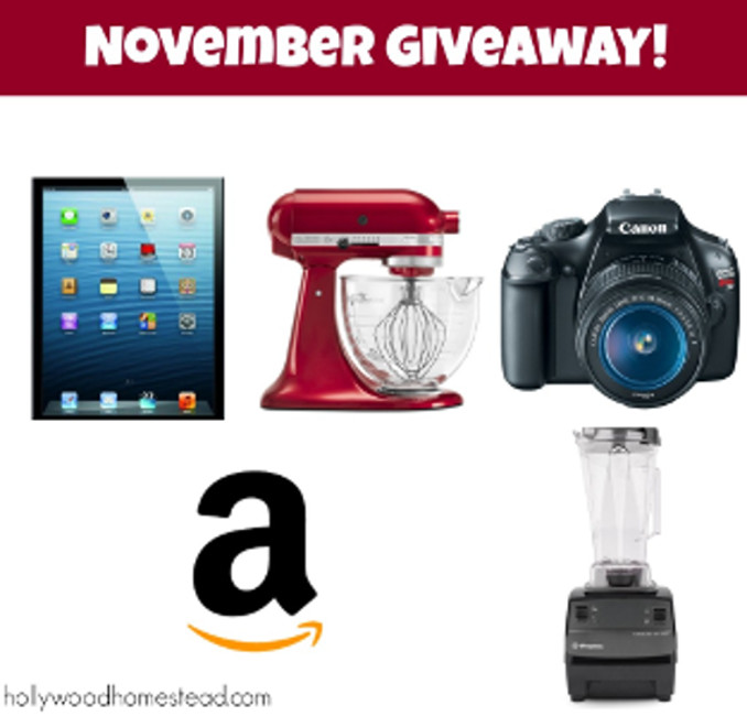 Giveaway Winner! Amazon Giftcard – $400 Value!