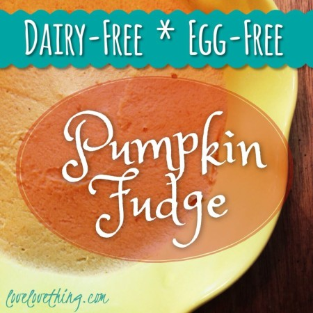 Pumpkin Fudge (Dairy-Free, Egg-Free)