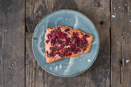 Salmon with Citrus Cranberry Relish