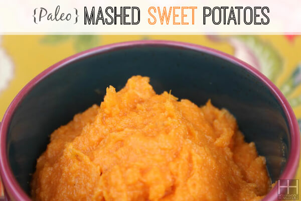 paleo mashed sweet potato
