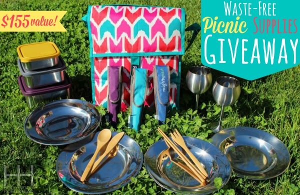 Win this $155 set in this giveaway for a stainless steel picnic set!