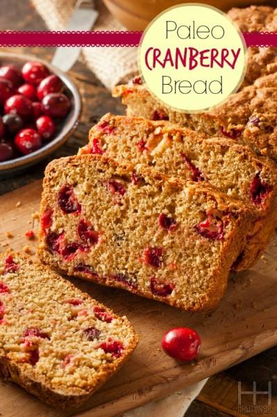 Paleo Cranberry Bread