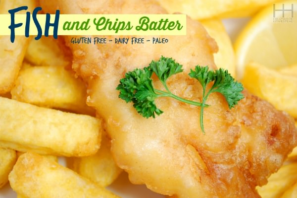 Fish and Chips Batter (gluten and dairy free)
