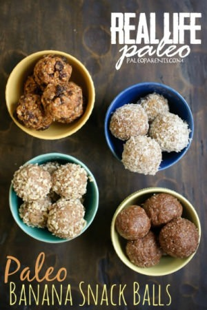Paleo Banana Snack Balls from Real Life Paleo - Hollywood Homestead