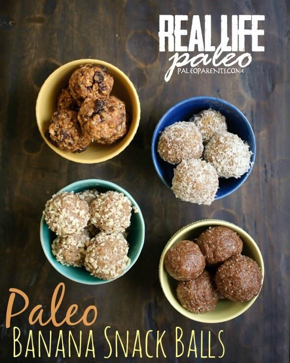 Paleo Banana Snack Balls from Real Life Paleo - Hollywood Homestead
