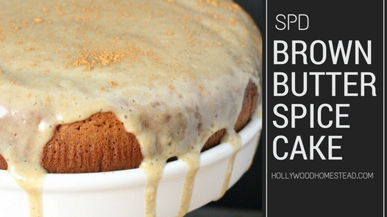 Brown Butter Spice Cake Recipe [GAPS]