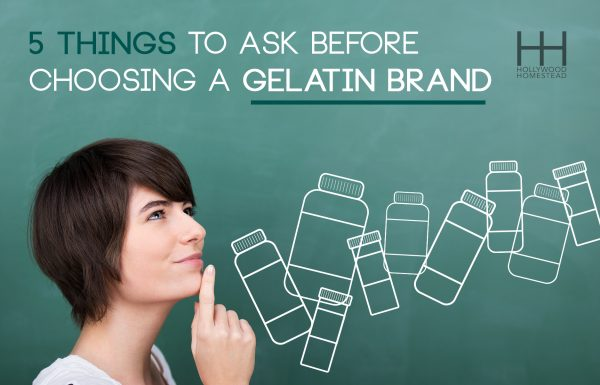 5 Things to Ask before Choosing a Gelatin Brand